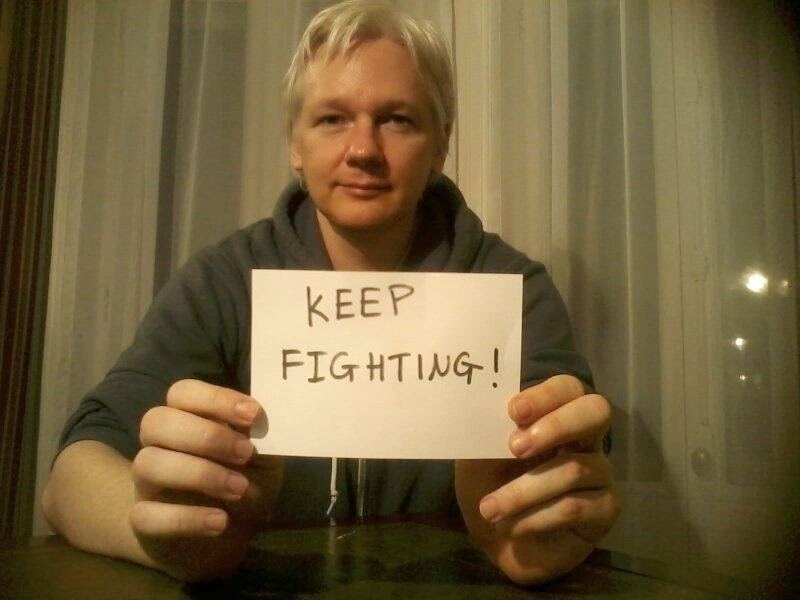 Photo de Julian Assange, Keep fighting